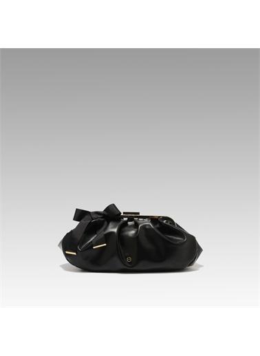 Black Ribbon Burslu Büyük Çanta Siyah